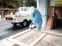 Repairing stall's iron door