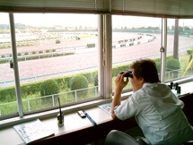 Monitoring training at Miho Training Center