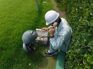 馬場内スタート電話通話試験