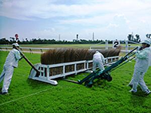 竹柵障害設置